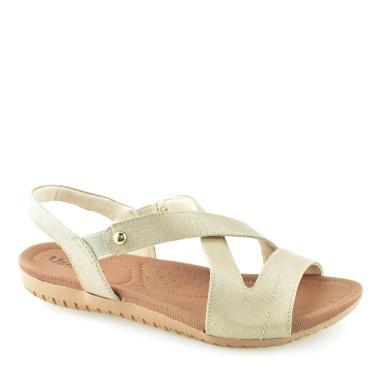 Sandalia Rasteira Usaflex Conforto R1804 Usaflex Prata Velho  feminino