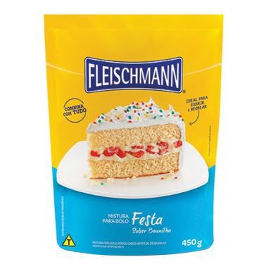 Mistura Para Bolo Fleischmann Festa Baunilha 16X450G