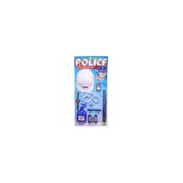 Imagem de Brinquedo Kit Infantil Policial Super Detetive com Capacete Binoculo e Acessórios