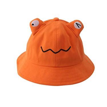 PRETYZOOM Chapéu de sol infantil para uso ao ar livre com proteção UV, chapéu de pescador de verão e praia (laranja)