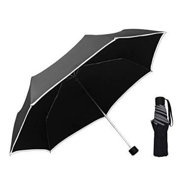 Guarda-chuva Eastdall Guarda-chuva automático aberto Fechar Guarda-chuva com cabo de madeira à prova de vento Grande guarda-chuva triplo dobrável com 12 costelas para chuva compacta