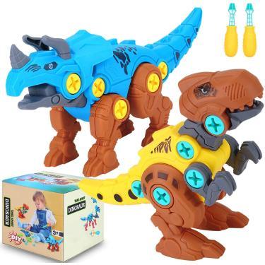 Imagem de Brinquedos de dinossauro Niskite para 3 meninos de 5 anos, desmonte aprendendo brinquedos de dinossauro para crianças 5-7, Construindo Jogos de Brinquedo de Tronco para Crianças de 4 a 8 anos, presentes de aniversário para meninas meninos de 3 a 8 anos