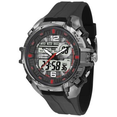 93e7f44603b Relógio Masculino X-Games Anadigi XMPPA234 BXPX Preto Cromado