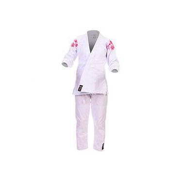 Kimono Jiu-Jitsu Premium Branco Feminino - Budô Brasil