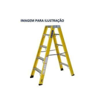 Escada Fibra Pintor 06 Degraus 1,95 m (Cogumelo)