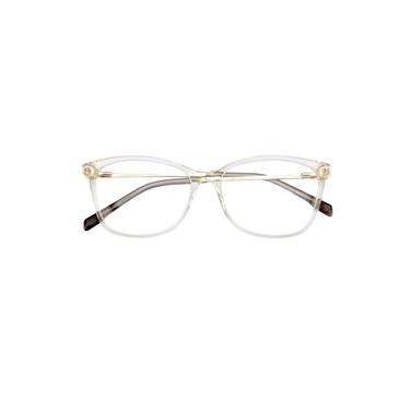 Imagem de Armação Óculos De Grau Feminina Quadrada Nina Transparente