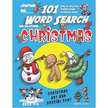 101 Word Search for Kids 2: SUPER KIDZ Book. Children - Ages 4-8 (US Edition). Friends Dabbing, Blue, Christmas Words w custom art interior. 101 ... and learning for fun activity time!