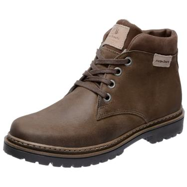 Bota Coturno em Couro Mega Boots 6018 Marrom  masculino