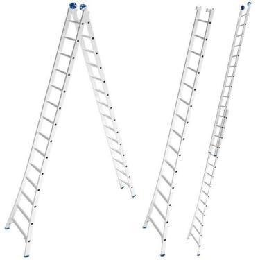 Imagem de Escada de Alumínio Extensiva 2 x 14 Degraus 4,21 x 7,01 Metros MOR