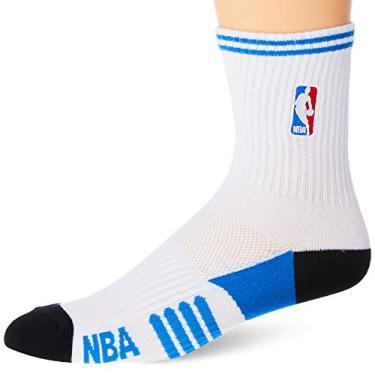 NBA Meia Cano Medio, 39 - 43, Branco