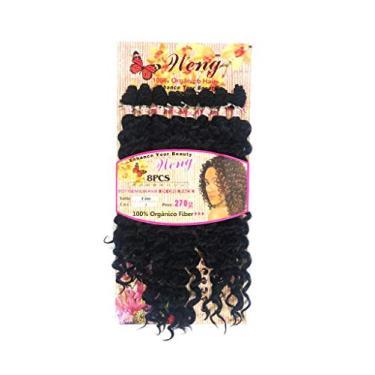 Imagem de Cabelo Orgânico Cacheado 65 Cm 8 Telas Mega Hair Natural Lançamento Weng Cor :Preto