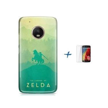Kit Capa TPU Moto G5 Plus The Legend Of Zelda – Breath of The Wild + Pel Vidro (BD30)