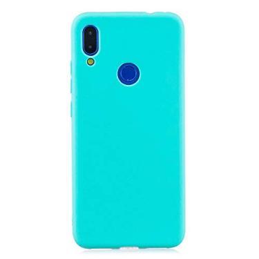 Capa Tpu Fosca Para Xiaomi Redmi Note 7 e Note 7 Pro - Capinha Case De Proteção Ultra Fina Slim Material Silicone Fosco (Azul claro)