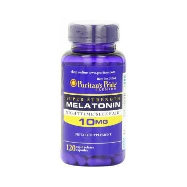 Imagem de Melatonina 10 mg 120 Cápsulas - Puritan's Pride Puritan's Pride