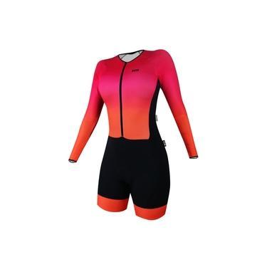 Macaquinho Ciclismo Manga Longa Feminino Sportxtreme Solene