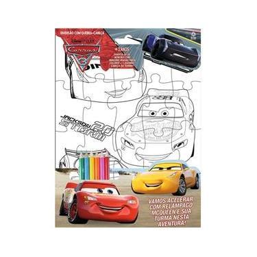 Imagem de Carros 3 - Disney Diversão com Quebra-Cabeça