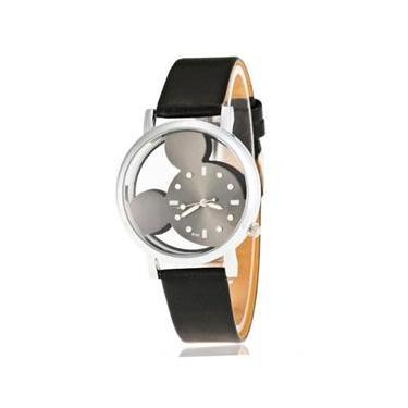 8a89644107e Relógio Feminino de Pulso Preto Mickey Mouse Transparente
