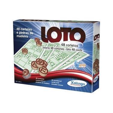 Imagem de Jogo De Bingo Loto 48 Cartelas C/Pedra Madei  Xalingo
