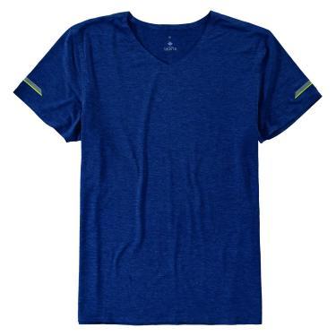 Camiseta em malha dry, Malwee Liberta, Masculino, Azul Marinho, P