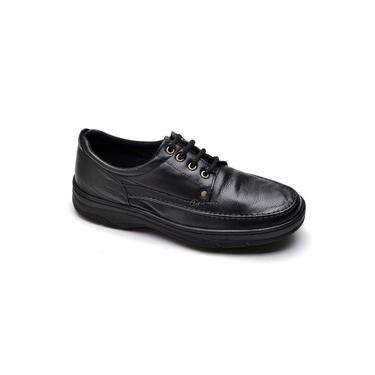 Sapato Social Masculino De Calcar Ortopedico Flexivel E Conforto Preto