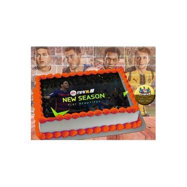 PS4 XBOX GAME - Papel De Arroz Comestível Para Bolo FIFA 16 E 18 A4 20x30cm Mod.01
