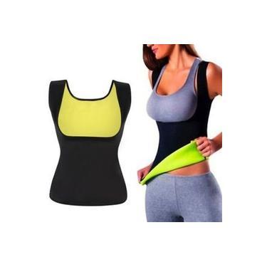 Camiseta Colete Corpete Slim Cinta Modeladora Redução Abdominal Hot Shapers Ação Térmica Neoprene