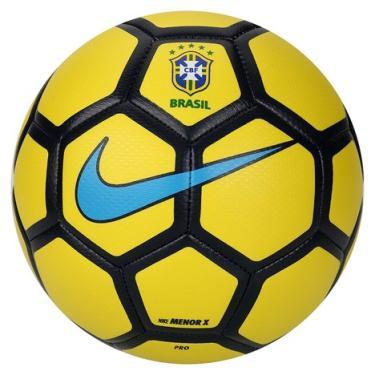 578a4b020 Bola Futebol Menor X CBF Futsal Nike - Amarelo Azul