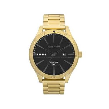 9ce5c0cadf468 Relógio Masculino Mormaii MO2115AY 4P Pulseira Aço Dourada