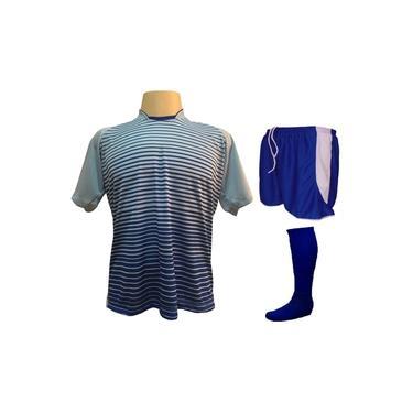 Fardamento Completo modelo City 18+1 (18 Camisas Celeste/Royal + 18 Calções Copa Royal/Branco + 18 Pares de Meiões Royal + 1 Conjunto de Goleiro) +