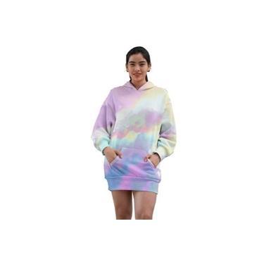 Vestido De Moletom Canguru Tie Dye Feminino Ref102 Lançamento