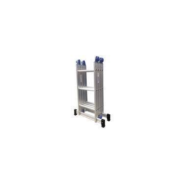 Escada Multifuncional Em Alumínio 3x4 Com 12 Degraus-real Escadas-art003