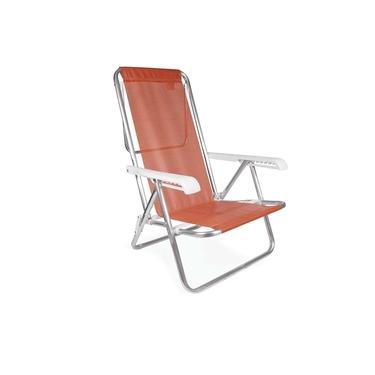 Cadeira Reclinável Alumínio 8 Posições Coral