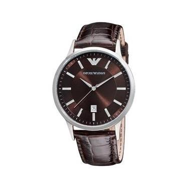 25c62f2bc3 Relógio Masculino Emporio Armani Modelo AR2413 Pulseira em Couro   A prova  d  água