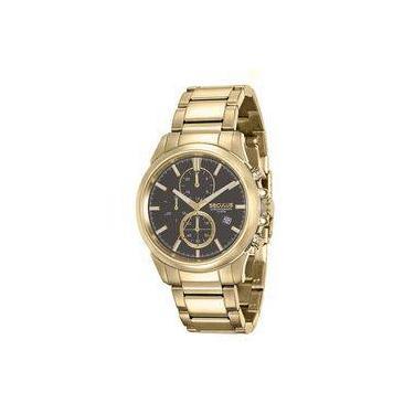 2c045717037 Relógio Masculino Seculus Cronógrafo 13023GPSVDA1 Dourado