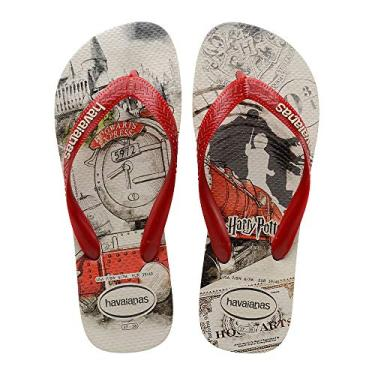 Chinelo Harry Potter, Havaianas, Adulto Unissex, Bege Palha, 43/44