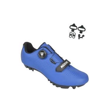 Sapatilha Mtb Ciclismo Kode Enduro Azul + Tacos Mtb