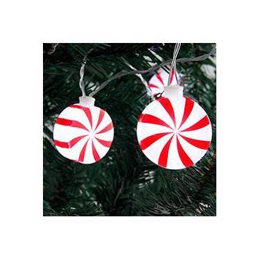 Pisca Musical LED em Forma de Balas 10 Lâmpadas - Christmas Traditions
