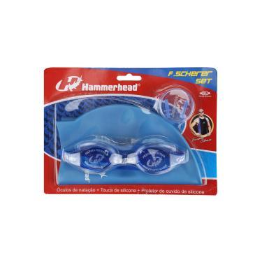 Kit de Natação Hammerhead F. Scherer Set com Óculos, Touca e Protetor de  Ouvido 6e216f1727