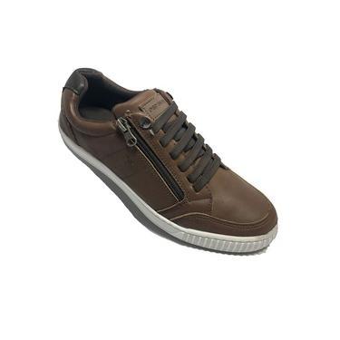 Sapatênis ped shoes casual masculino - marrom e castanho