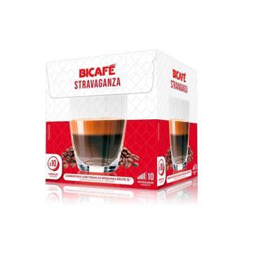 10 Cápsulas Café Stravaganza Bicafé Intenso e Perfumado Para Máquina Delta Q*