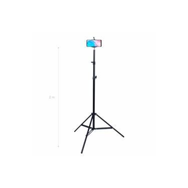Tripé De Iluminação Youtuber + Adaptador Celular 2m