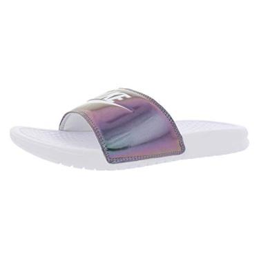 Imagem de Chinelo Nike Slide Benassi Jdi Metalizado Branco/frutacor