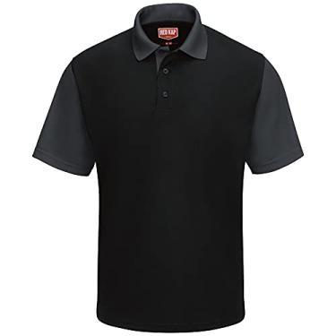 Imagem de Camisa polo Red Kap Performance SK56, Black / Charcoal, XL