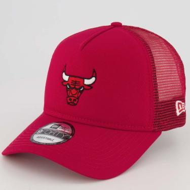 Boné New Era 940 NBA Chicago Bulls Vermelho