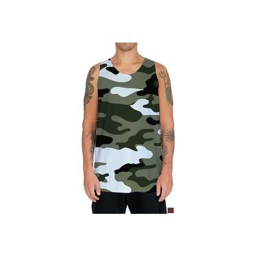 Regata Camiseta Camuflagem Camuflado Exército Estampas Hd