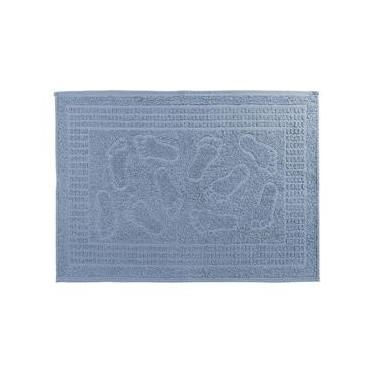 Imagem de Tapete de Banheiro Piso Felpa 1 Peça Pezinho Azul Supremo