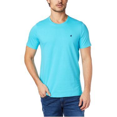 Camiseta Slim bordada em malha, Malwee, Masculino, Azul, GG