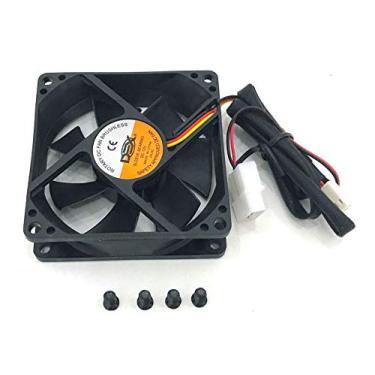 Cooler Fan Para Gabinete Dex 80mm Preto 2 Conectores (preto)