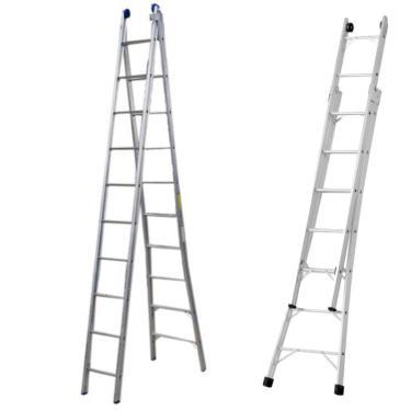 Escada De Alumínio Extensiva 10 Degraus 3,17 X 5,52 Metros P010 Alustep