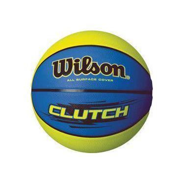 Bola De Basquete Clutch N.7 Azul Verde Wilson f45228e047e5f